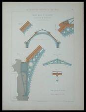 MIRECOURT CHARENTE, CHARPENTE METALLIQUE - GRAVURE 1880 -