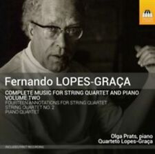 FERNANDO LOPES-GRA‡A: COMPLETE MUSIC FOR STRING QUARTET AND PIANO, VOL. 2 NEW CD