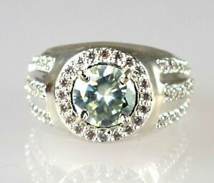Certified 4.37 Ct White Diamond Solitaire Halo Ring-Men's Latest Collection