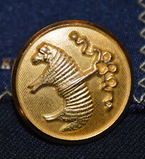 "BROOKS BROTHERS Gold Metal Blazer Golden Fleece Replacement Button 7/8"" CLOSURE"