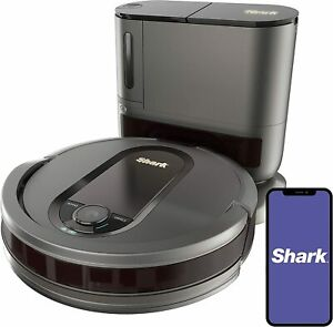 Shark AV911S EZ Robot Vacuum with Self-Empty Base, Bagless, Row-by-Row Cleaning