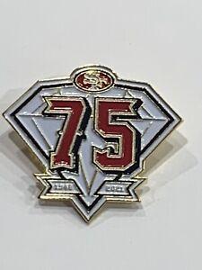 SAN FRANCISCO 49ERS PIN 75TH ANNIVERSARY 1946-2021 5X SUPER BOWL MONTANA RICE