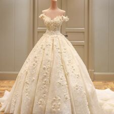 White Ivory Lace Wedding Dress Bridal Gown Custom Size 6 8 10 12 14 16
