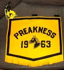 Vintage Embroidered 1963 Preakness Horse Racing Felt Banner