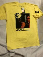 STAR WARS Han Solo Blaster Never Tell Me The Odds Yellow T-SHIRT Large