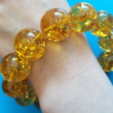 Natural Baltic Amber Bracelet 45gr 18.5mm Round Beads