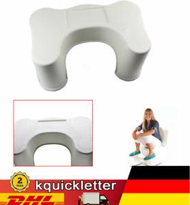 Medizinische Toilettenhocker, WC-Hocker Fussbankfür Kinder oder Erwachsene