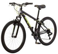 Excursion Mountain Bike 24 Wheel 21Speeds Boys Frame Black/Neon Green Mongoose