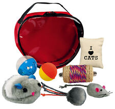 Trixie Cat Kitten Play Set in Bag 7 Different Toys Some with Catnip add interest