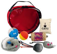 Trixie Conjunto de 2 Bolas De Juguete Gato Felpa Suave y Esponjosa 3cm con campana de colores pueden variar