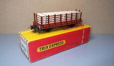 Trix Express 437 - Rungenwagen mit Echtholz von 1963, neuwertig, OVP!