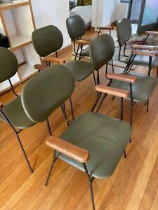 6 Mid Century Shabby Chic Eglin Retro Dining chairs 50's 60's Atomic