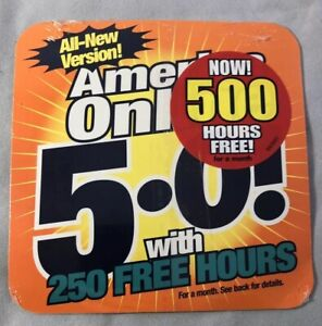 America Online AOL CD Collectible 5.0 Version 250 Hrs Free