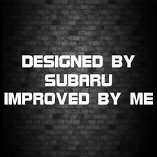 DESIGNED BY SUBARU STICKER Funny Car Van JDM Window Bumper Novelty Vinyl Decal