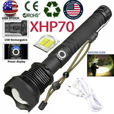 350000LM Powerful XHP70 LED Flashlight Zoom USB Rechargeable 18650 Torch Light