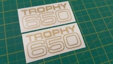Triumph TR6 Trophy 650  side panel / tool box  restoration decals stickers