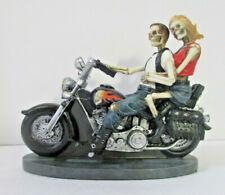 Studio Collection Veronese Skeleton Motorcycle Couple Love Never Dies Figurine