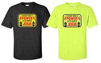 """Power In The Name"" T-Shirt christian church bible verse faith jesus electrician"