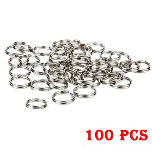 100Pcs Split Rings Small Keychain Keyrings Bulk Key Rings For Keys Organization