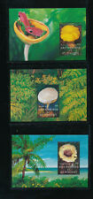 Pilze, 3 Motiv-Blöcke Pilze aus Grenadines + St.Vincent, postfrisch,  (MO3)