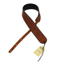 Martin Rolled Ball Glove Leather Guitar Strap Brown