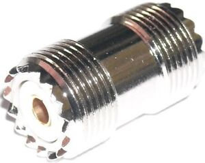 Double female UHF barrel connector - Will connect two PL259 plugs.