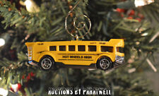 Yellow Super Charged School Bus Custom Christmas Ornament 1/64 Scale Adorno NEW!