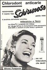 CHLORODONT DENTIFRICIO SCHIUMOSO DENTISTA SILVANA PAMPANINI FLUORO SORRISO 1954