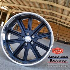 "17X8"" AMERICAN RACING 407's SHELBY COBRA WHEELS GM CHEVY  FORD MUSTANG MOPAR"