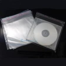 50 100 200 CD Box Jewel Disc Case Holder Storage Plastic Wrap Sleeves Bag CSA120