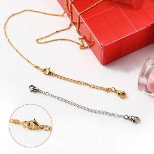 10Pcs Edelstahl Halskette Kette Halskette Extender für die Schmuckherstellung
