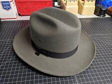 STRATTON WESTERN STYLE TROOPER GRAY FELT HAT BLACK 7 3/8 REG