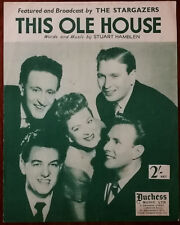 More details for the stargazers this ole house by stuart hamblen duchess music ltd. – pub. 1954