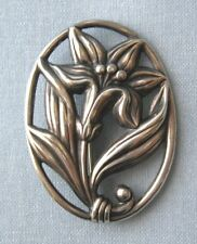 "Pin 2"" marked sterling Sterling Silver Lily / Flower"