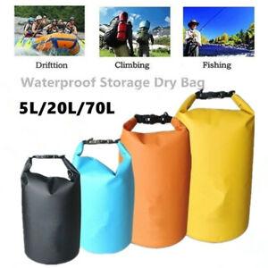 5L/20L/70L Portable Waterproof Bag Camping Storage Bag Drifting Drying Bag