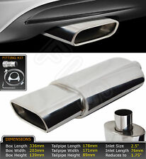 UNIVERSAL PERFORMANCE FREE FLOW T304 STAINLESS STEEL EXHAUST BACK BOX-OPEL