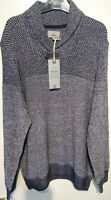 M & S Tailored Fit Pure Cotton Ivory and Black Mix Mens Jumper Size XL Bnwt
