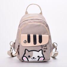 Cats Pattern Backpack Canvas Girl Women Shoulder Bag Atsume Messenger Bag Gifts