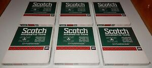 "NOS Scotch 203 Reel to Reel 1800' Magnetic 7"" Tape Lot 6 Tapes DYNARANGE Sealed"