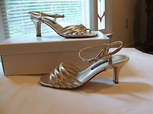 new in box Caparros Gold Wedding/ EveningFormal Dressy High Heels sz  5.5 m