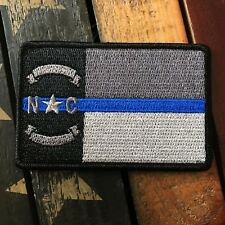 Subdued Thin Blue Line NORTH CAROLINA State Flag Patch, Law Enforcement