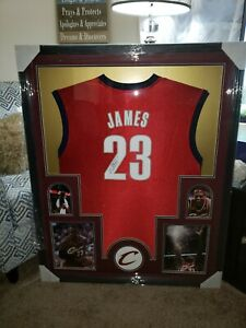 LEBRON JAMES SIGNED AUTOGRAPHED FRAMED CLEVELAND CAVALIERS JERSEY WITH COA