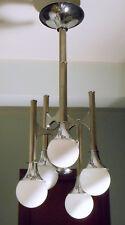 Lampada da Soffitto Diffusori Vetro a Onde 5 Lampadine E14 Lampadario Casa O2J3