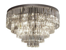 Palladium Empress Crystal (tm) Glass Fringe Chandelier Flush Chandeliers