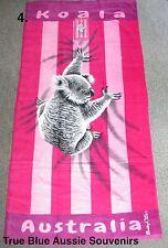 Australian Souvenir Beach Towel Pink Koala Australia 100% Cotton