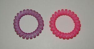 Ponytail Holders Lavender Pink New Set (2) Tangle Free Hair Ties Large Purple