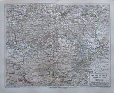 1875 Oesterreich unter der Enns od der Enns 2 alte Landkarten old maps Austria
