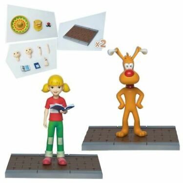Inspector Gadget Brain and Penny Megahero Series Action Figure 2Pack