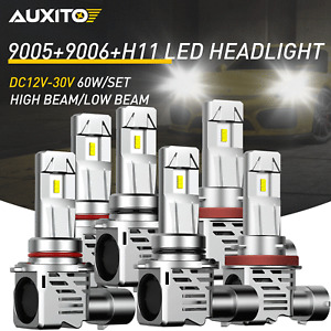 6x Combo 9005+9006+H11 LED Headlight Conversion Kit High Low Beam Bulbs 6500K M3