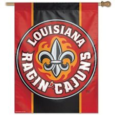 """LOUISIANA LAFEYETTE RAGIN CAJUNS 27""""x 37""""  flag banner new style #2 new in packa"""